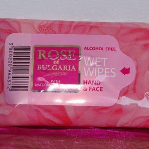 Rose of Bulgaria Reinigingsdoekjes zonder alcohol