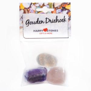 Happy Stones - Knuffel edelsteen - de Gouden Driehoek