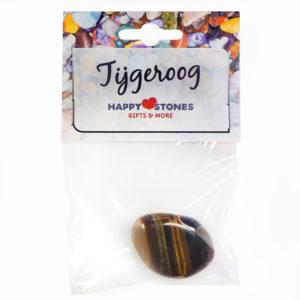 Happy Stones - Knuffel edelsteen - Tijgeroog