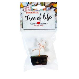Happy Stones - zakje geluk - Tree of Life Bergkristal