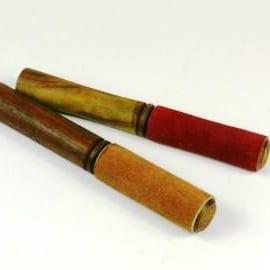 Klankschaal klopper - aanstrijkstok medium circa 19 cm.