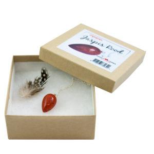 Pendel edelsteen Jaspis Rood