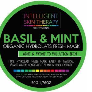 Fresh Hydrolate mousse-gel fresh Masker - Basil & Mint